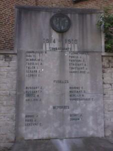 MONUMENTS AUX COMBATTANTS 1914-1918 JEMEPPE-SUR-SAMBRE