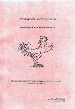 Généalogie ascendante de Jean Claude VAN CAUWENBERGHE